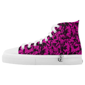 Pink and Black Camouflage High Tops