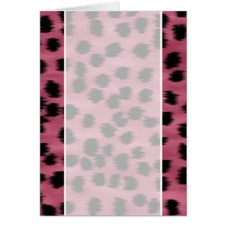 Pink and Black Cheetah Print Pattern. Card