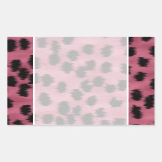 Pink and Black Cheetah Print Pattern. Rectangular Sticker