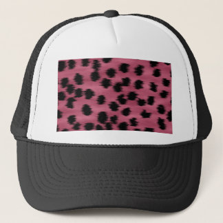 Pink and Black Cheetah Print Pattern. Trucker Hat