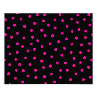 Pink And Black Confetti Dots Pattern Photo