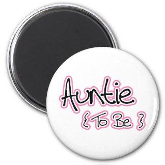 Pink and Black Design for Aunts Magnets