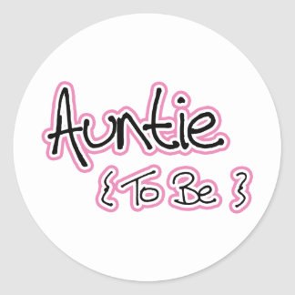 Pink and Black Design for Aunts Round Sticker