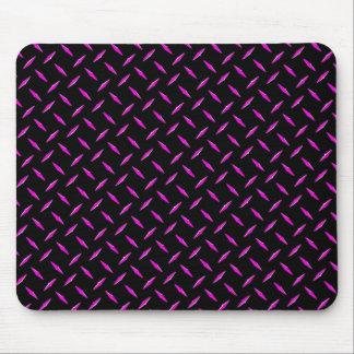 Pink and Black Diamond Plate Mousepad