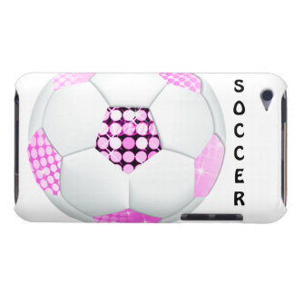Pink and Black Disco Soccer Ball iPod Touch Covers