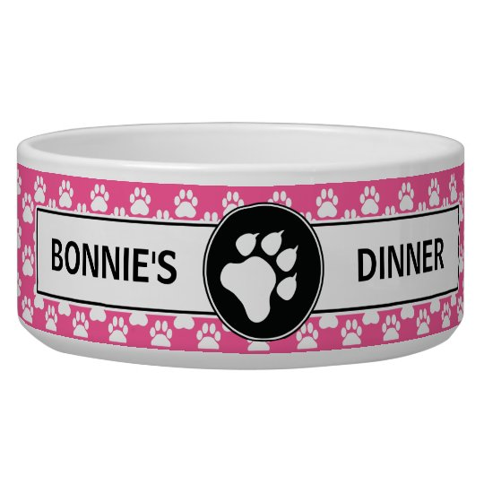 Pink And Black Dog Paws With Custom Text