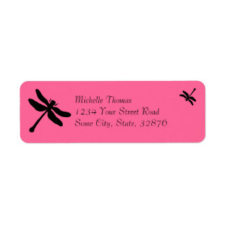 Pink and Black Dragonfly Wedding