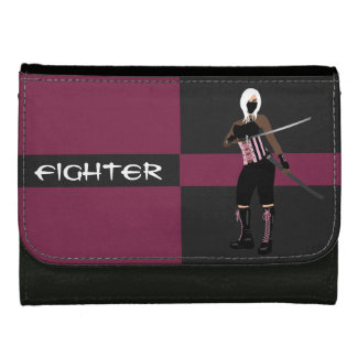 Pink and Black Female Fighter Wallet