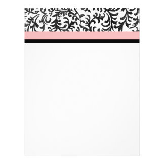Pink and Black Floral Pattern Personalised Flyer