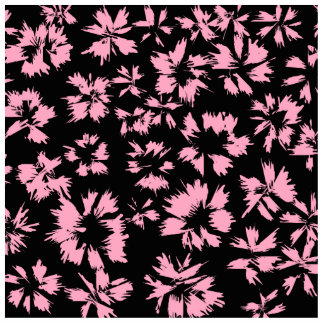Pink and Black Floral Pattern Photo Cut Outs