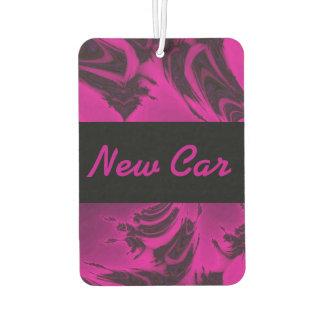 Pink and black fractal car air freshener