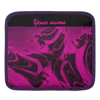 Pink and black fractal iPad sleeve