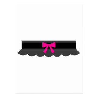 Pink and Black Garter Belt Postcard