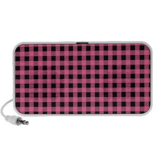Pink and Black Gingham Speaker