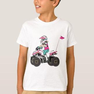 Pink and Black Girl ATV Rider T-Shirt