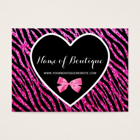 Pink and Black Glam Zebra FAUX Glitz Boutique