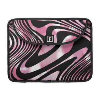 Pink and Black Glitzy Zebra Animal Print Sleeve For MacBook Pro