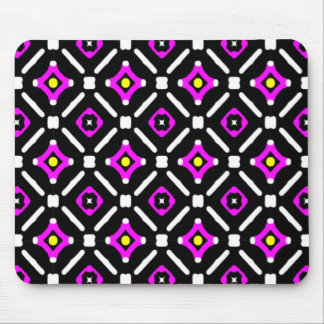 Pink and Black God's Eye Pattern Mouse Mat