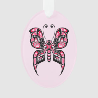 Pink and Black Haida Spirit Butterfly