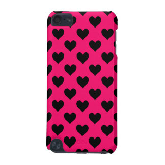 Pink and Black Heart Pattern iPod Touch (5th Generation) Cover