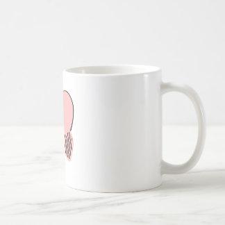 Pink and Black Hearts Basic White Mug