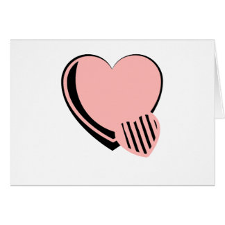 Pink and Black Hearts Greeting Card
