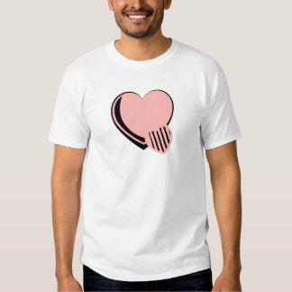 Pink and Black Hearts Tshirt