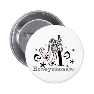 Pink and Black Honeymooners Pinback Button