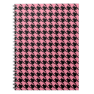 Pink and Black Houndstooth Notebook