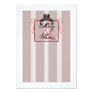 Pink and Black Invitations