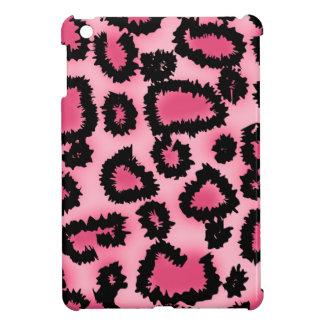 Pink and Black Leopard Print Pattern. iPad Mini Cases