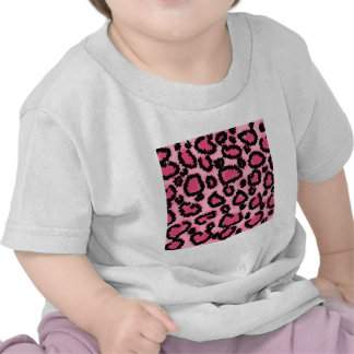 Pink and Black Leopard Print Pattern Tshirt