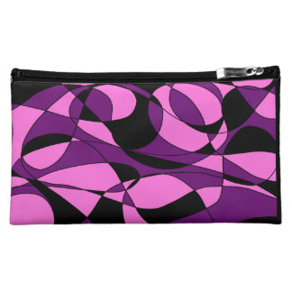 Pink and Black Medium Cosmetic Bag