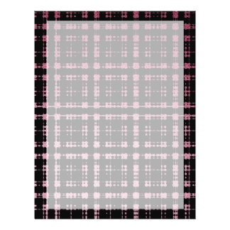 Pink and Black Modern Plaid Netted Ombra 21.5 Cm X 28 Cm Flyer