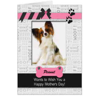 Pink and Black Mother's Day Photo from the Dog Card