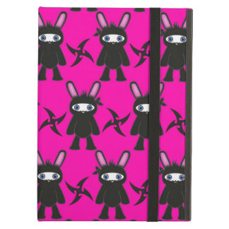 Pink and Black Ninja Bunny Pattern Case For iPad Air