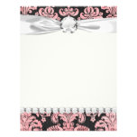pink and black ornate fleur chic damask full colour flyer