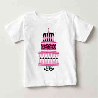Pink and Black Party Cake Tshirts