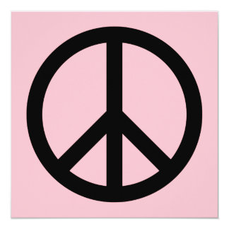 Pink and Black Peace Symbol Card
