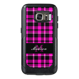 Pink and Black Plaid Modern OtterBox Samsung Galaxy S7 Case