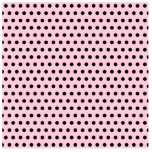 Pink and Black Polka Dot Pattern. Spotty. Cut Out