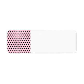 Pink and Black Polka Dot Pattern. Spotty. Return Address Label