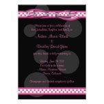 Pink and Black Polka Dots Customisable Invitation