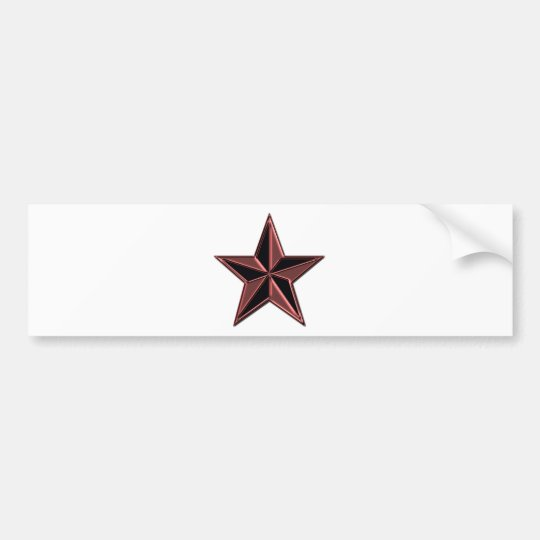 Pink and Black Star Bumper Sticker