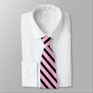 pink and black stripe pattern tie