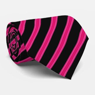 Pink and Black Striped Tie
