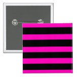 Pink and Black Stripes Pins