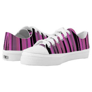 Pink and Black Tiger Camo Printed Shoes