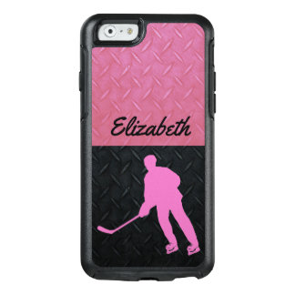 Pink and Black Tough Women's Hockey Name Case