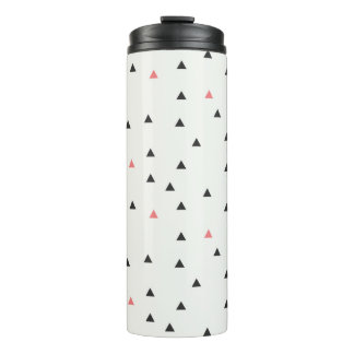 Pink and Black Triangles Water Bottle
